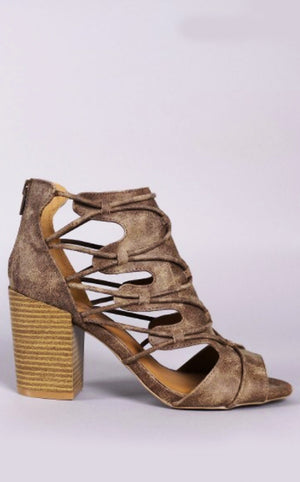 Lasting Impression Taupe Booties, RESTOCKED!!