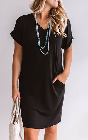 Forever Favorite Black Knit Dress, S-3X *SATURDAY STEAL!*