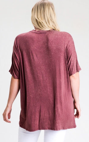 Simply The Best Burgundy Top, 1X-3X!