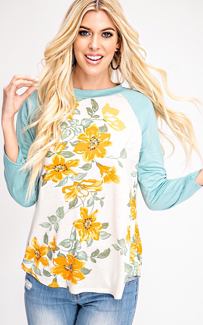 Spring Has Sprung Floral Top