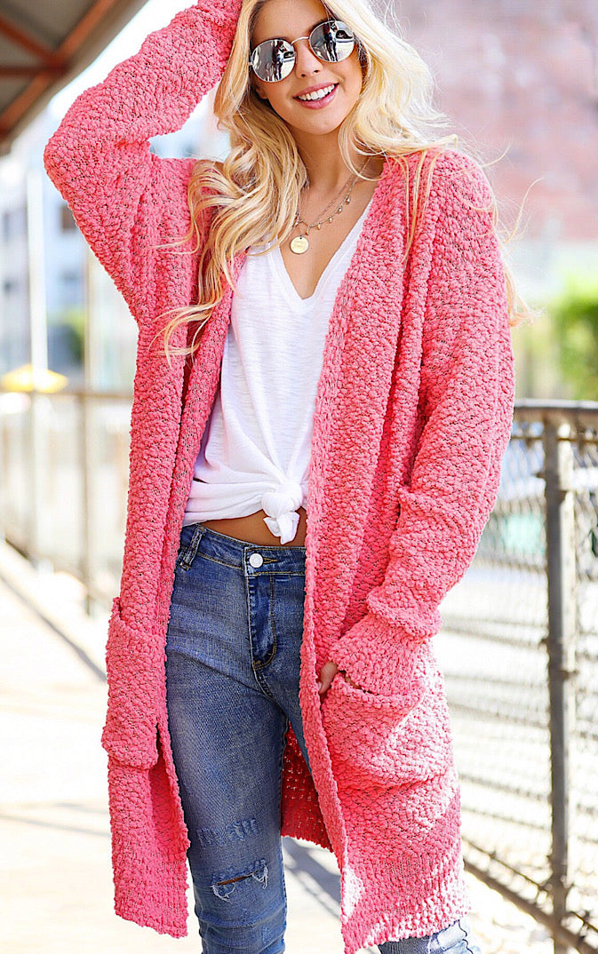 Think Pink Cozy Cardigan, RESTOCKED!!