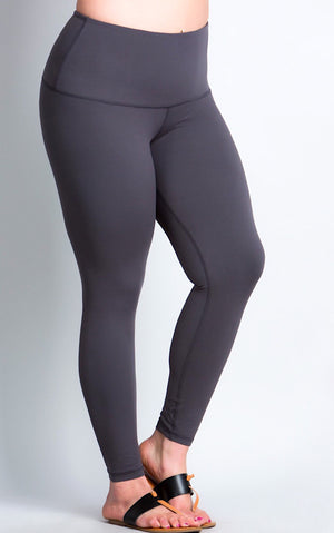 Life's A Breeze Charcoal Grey Butter Leggings, S-3X!!