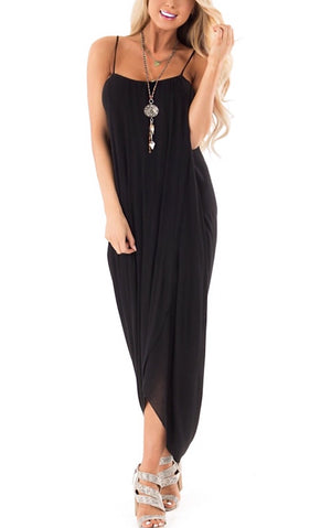 Casual Elegance Black Wrap Dress, SMALL in stock!