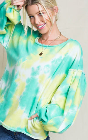Sunny Splash Tie Dye Top