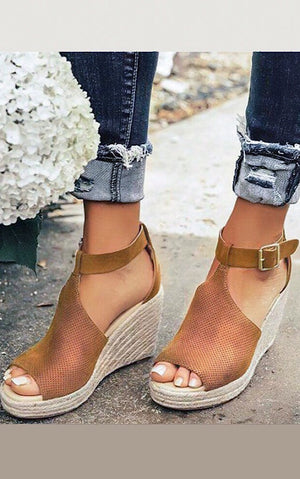 Dancing On Air Espadrille Wedge Sandals
