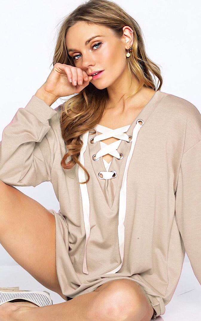 Keepin' It Casual Taupe Top