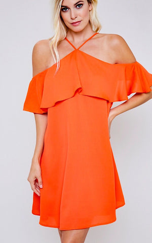 Meet Me In Paradise Mango Dress