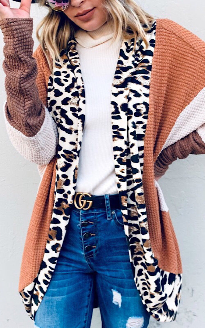 Leopard And Lattes Cardigan