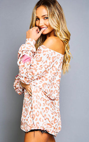 Charm School Pink Leopard Top
