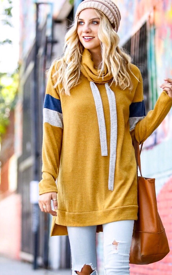 Sunday Funday Mustard Tunic, MED