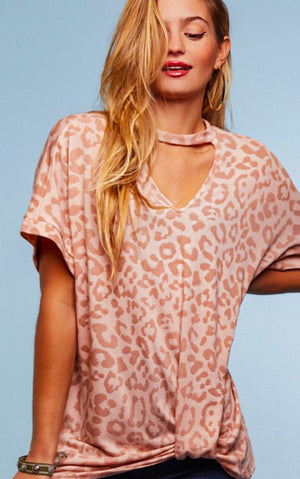 Making Me Blush Cheetah Print Top, S-3X!