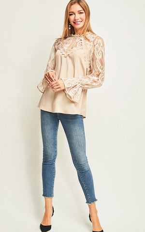 Celebrate In Style Lace Top, ONE SMALL left!