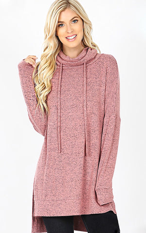 Cozy & Carefree Dusty Rose Pullover, XL-3X