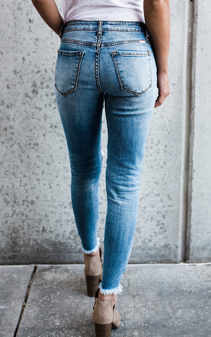 Wishes Do Come True Distressed Skinny Jeans