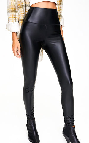 Fits Like A Glove High Waisted Leather Leggings