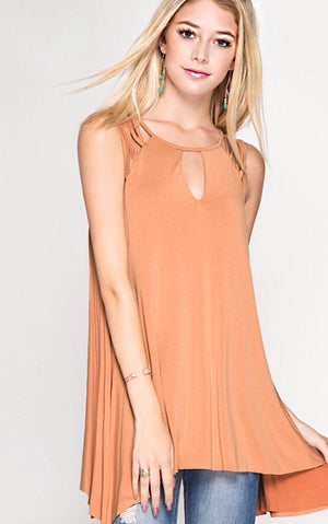 Sweet As Caramel Knit Top