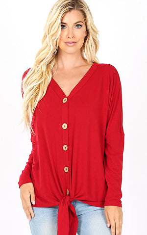 Cozy Cabin Red Knit Top, S-3X *WEEKLY DEAL*
