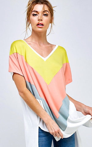 Step Into Spring Colorblock Top