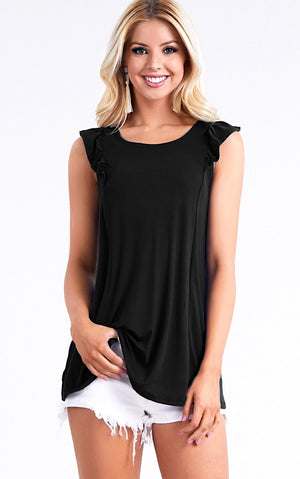 Summer Fun Black Tank, S-3X! *MONDAY NIGHT STEAL!*