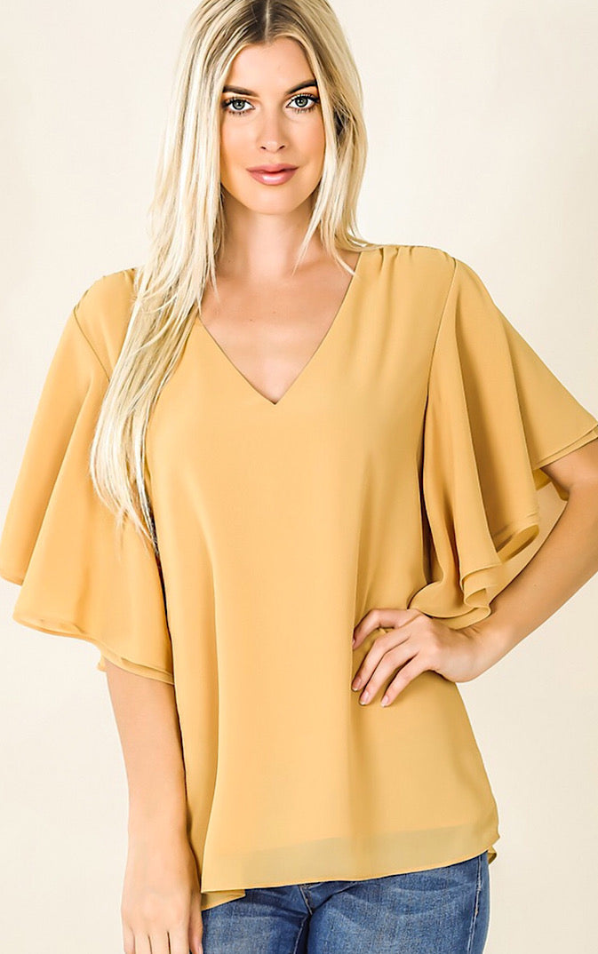Brand New Day Honey Yellow Top, S-3X! *SATURDAY STEAL!*