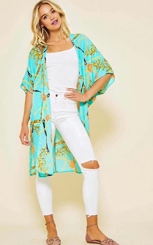 z Cruisin' To The Caribbean Kimono, SMALL