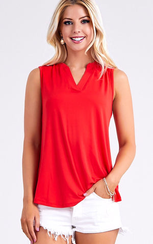Timeless Perfection Red Top, S-3X!
