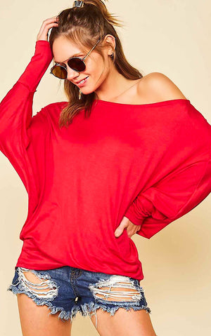Saturday Vibes Red Knit Top