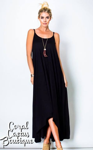 z Isabella Black Maxi Dress