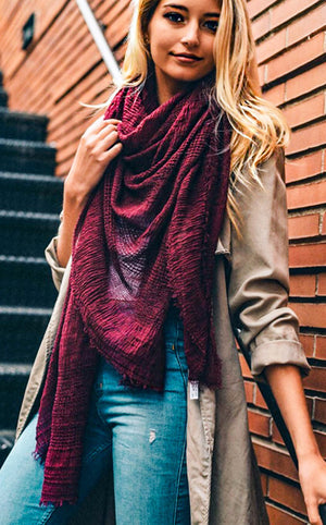 Keepin' Cozy Burgundy Blanket Scarf