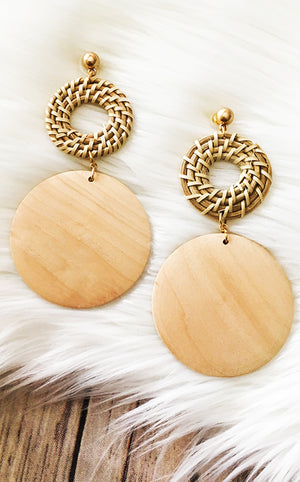 z Island Vibes Wooden Earrings