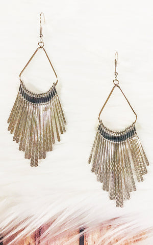Shoot For The Stars Silver Earrings