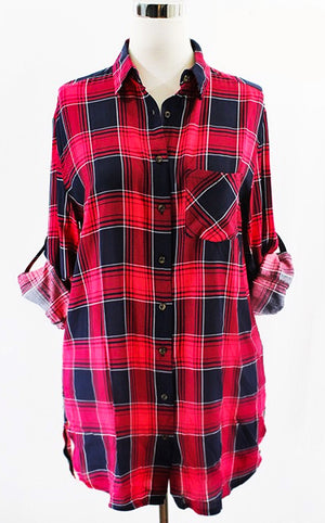 z Plaid About You Top, Sizes 10-20!!