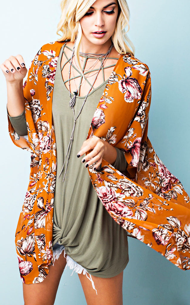 Shower Me With Flowers Kimono