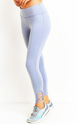 Let's Get Moving Light Blue Leggings