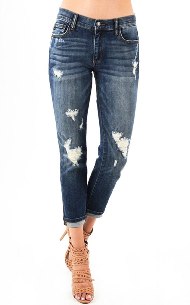 Best EVER Boyfriend Jeans Dark Wash