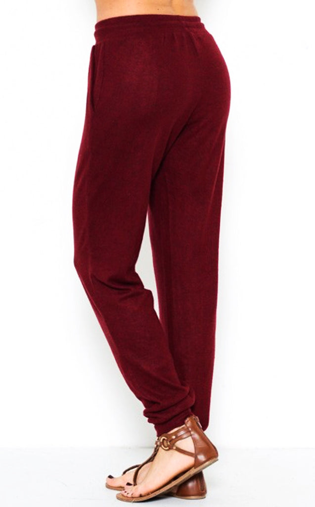 Softest Ever Jogger Burgundy, SMALL