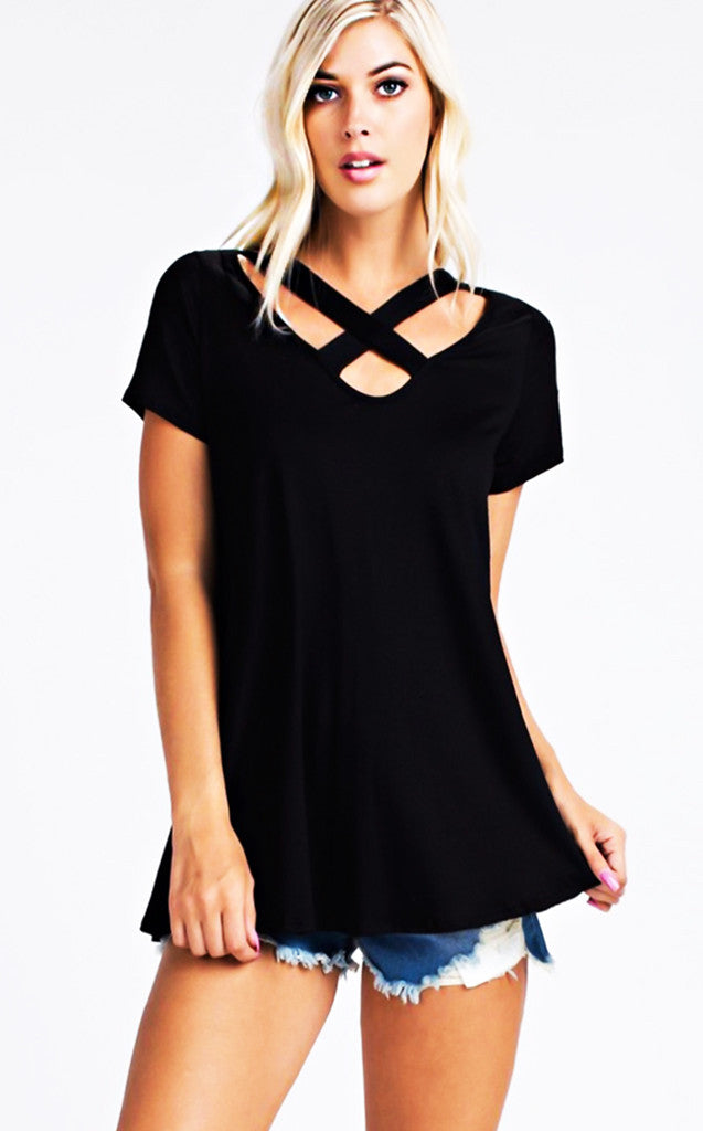 Picture Perfect Black Tee