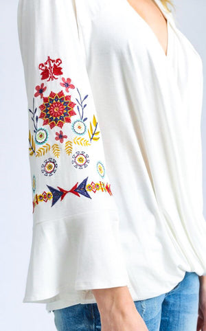 Dreaming of Spring Embroidered Top