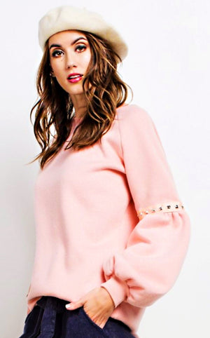 Pretty In Pink Blush Pullover