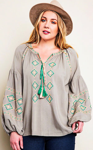 Wishes Come True Boho Top, CURVY