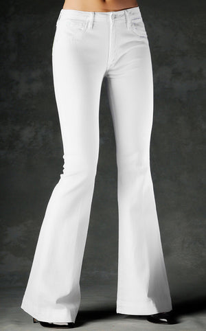 White Denim Flare Jeans
