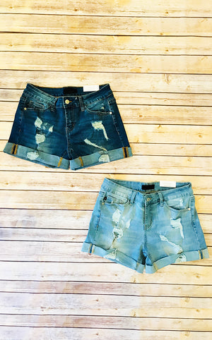 Fun In The Sun Denim Shorts Light Wash, SMALL