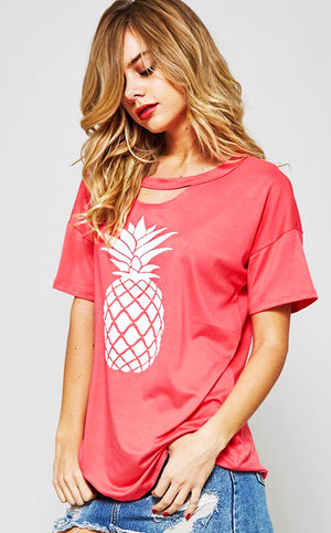 z Sweet As A Pineapple Top, SMALL