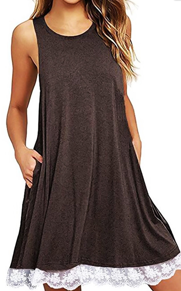 Casual Perfection Mocha Tank Dress, SMALL & 2X!