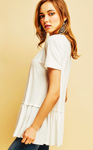 Ruffle Your Feathers Winter White Top