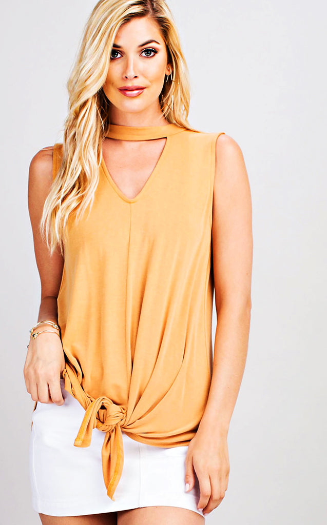 Golden Goddess Knotted Top, MEDIUM