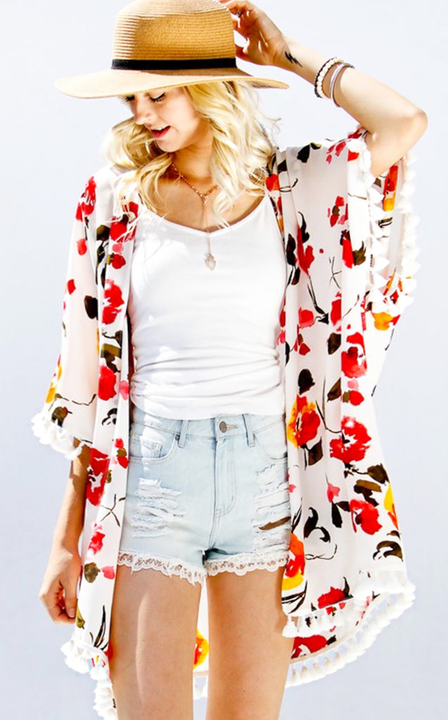 bd52d125f6 First of Fall Floral Kimono - The Coral Cactus Boutique