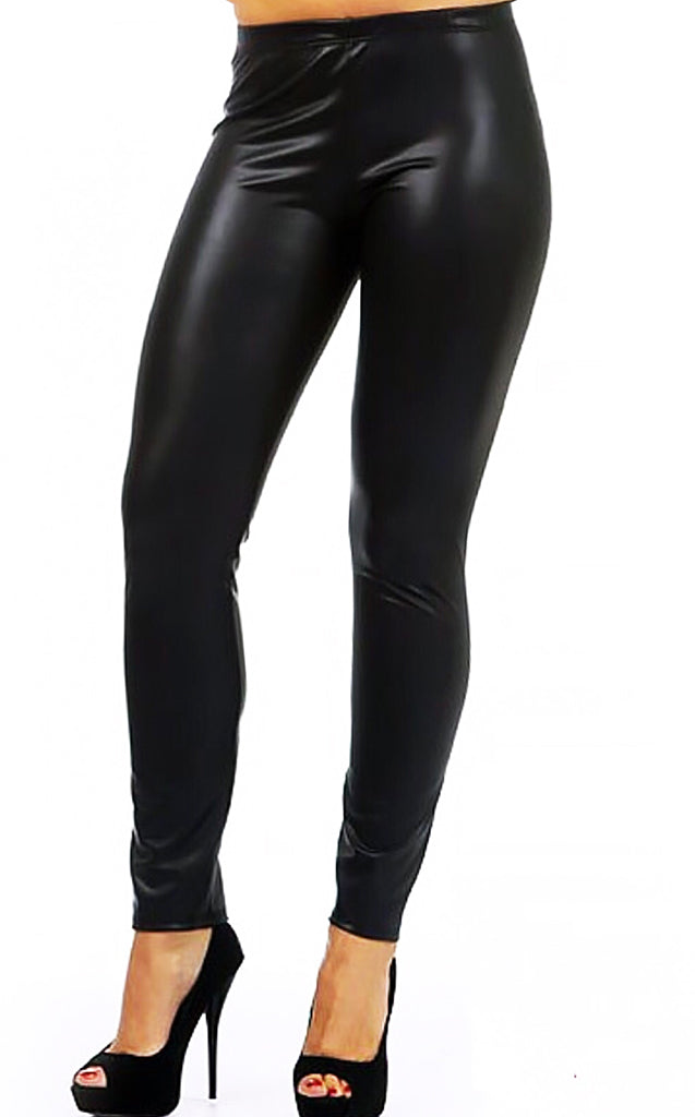 Fits Like A Glove Mid-Rise Leather Leggings