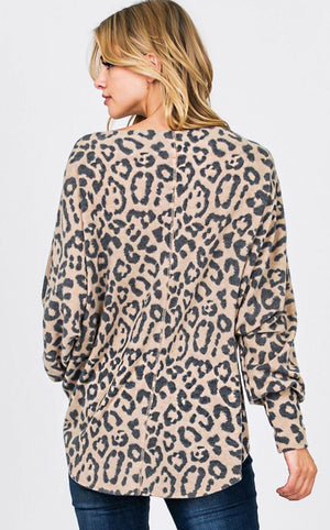 z Wild About You Animal Print Top