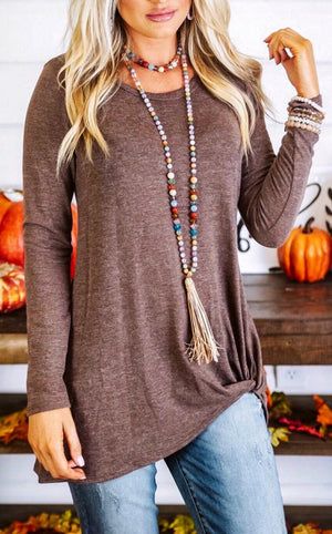 z Mocha Moments Knotted Top